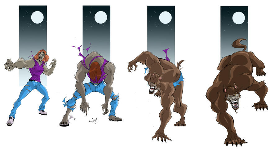 Wolf Transformation Sequence Old School Were...