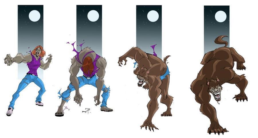 Werewolf Transformation Comic Sequence