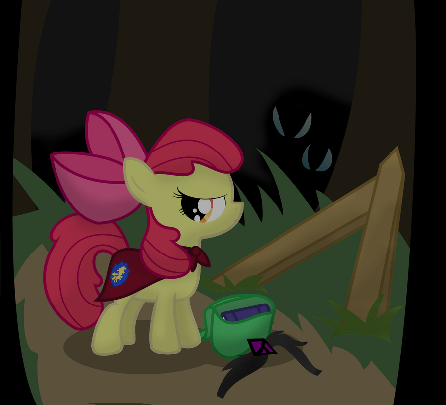 Alone in the dark? by Dazed-and-Wandering
