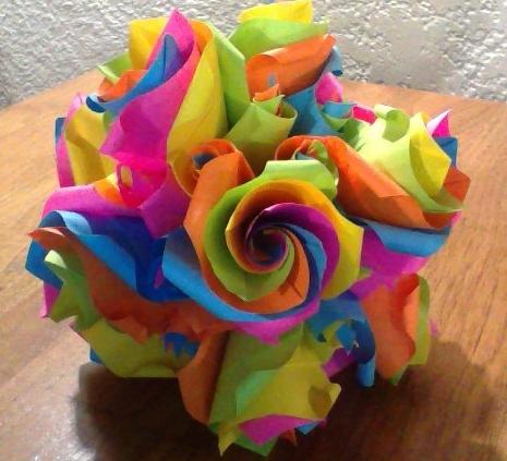 Origami Modular Kusadama Versailles by CrystallizedJello