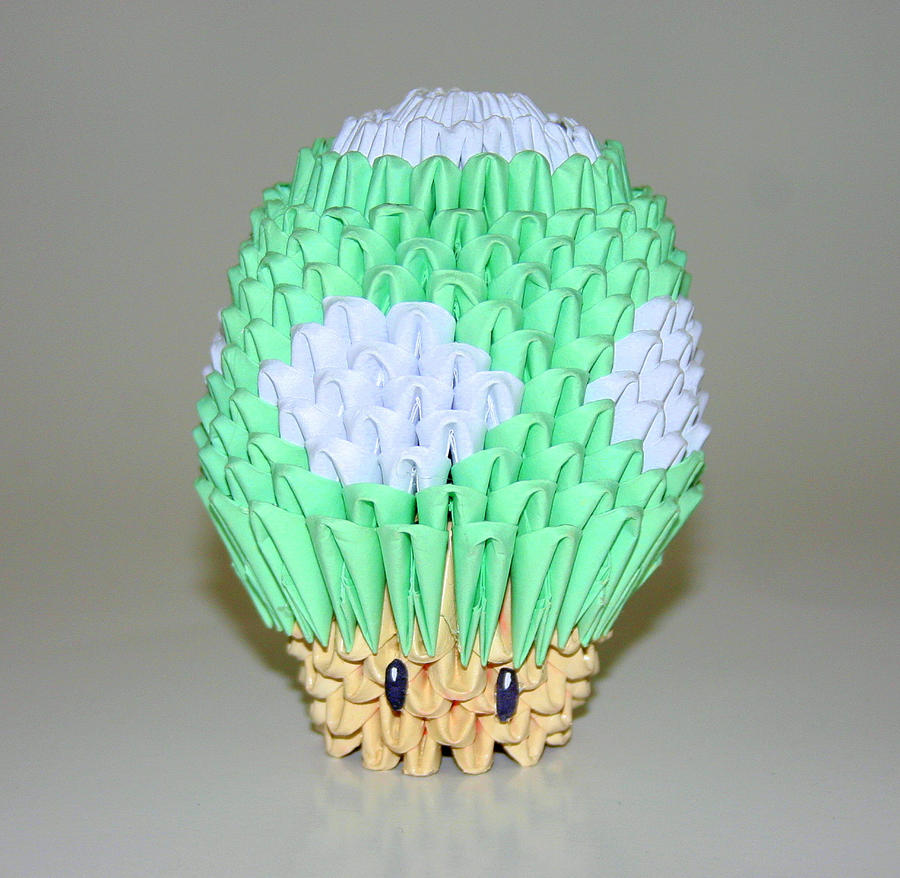 3D Origami 1-Up Mushroom by CrystallizedJello