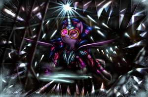 Masked Matter-Horn (Twilight)[Power Ponies] by Darksly-z