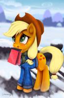 Applejack's Gift by Darksly-z