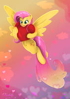Fluttershy - Heart And Hooves Day by Darksly-z