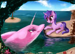 Sea Swirl And Unicorn Dolphin [Commission]