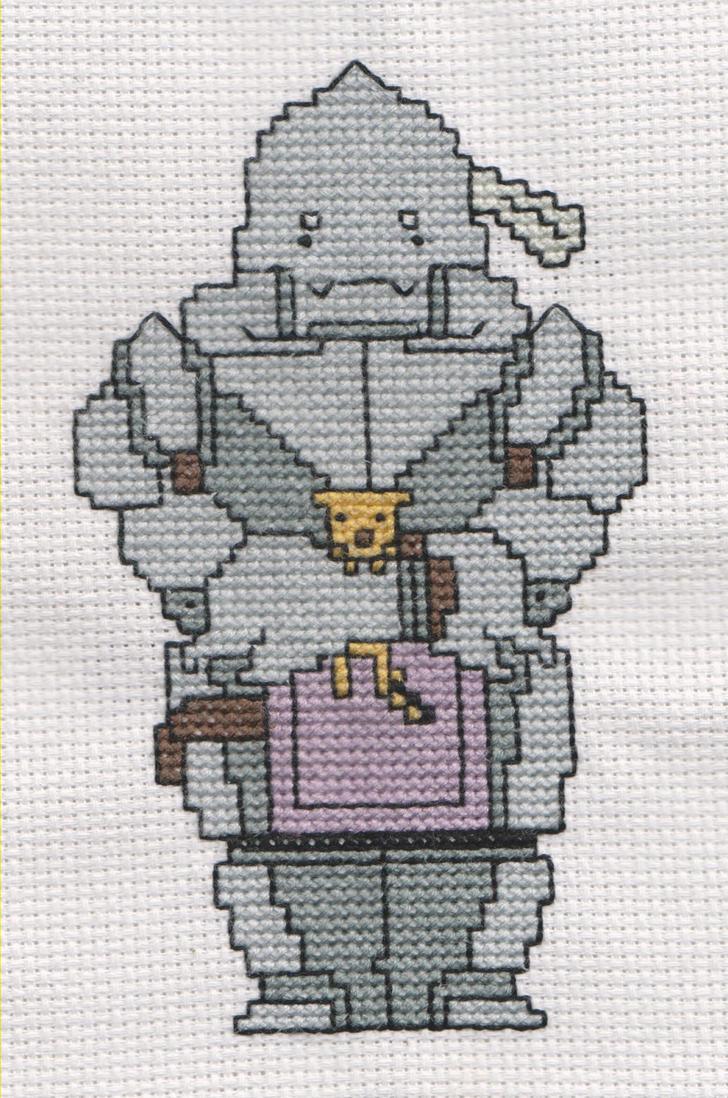 Alphonse Elric Cross Stitch by Muko-kun