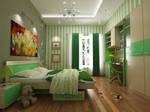 Simple kid room interior