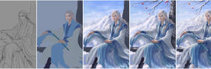 Ancient Winter Painting Process