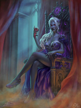 Commission: Kallista sitting on Throne