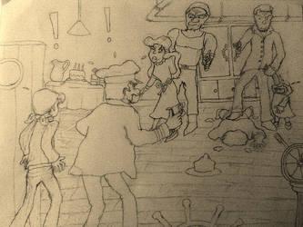 Blindsided - Uncolored - Origins of Tintin by BardofMaple