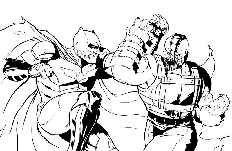 Batman Vs Bane Inks By AndrewKwan