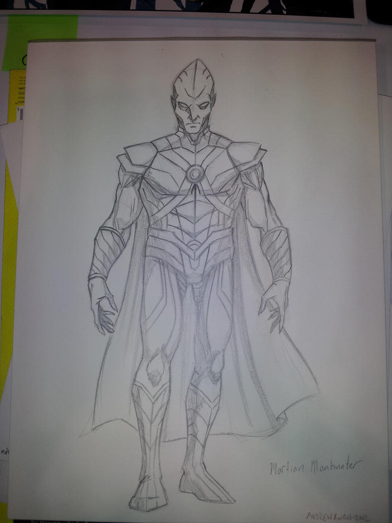 Martian Manhunter Sketch FanExpo by AndrewKwan