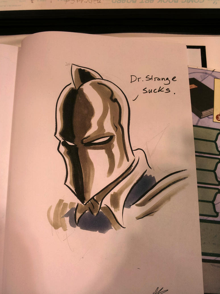 Toronto Comicon Sketch Dr. Fate by AndrewKwan