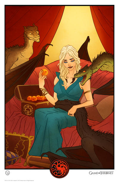 Daenerys Targaryen, Mother of Dragonballs by AndrewKwan