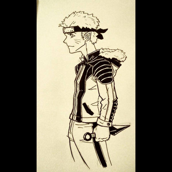 Daily Sketches 083: Naruto by AndrewKwan