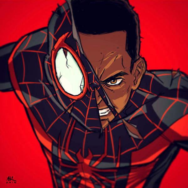 War-face Wednesday: Miles Morales by AndrewKwan