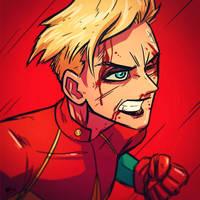 War-face Wednesday: Carol Danvers by AndrewKwan