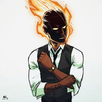 Casual Friday: Johnny Storm by AndrewKwan