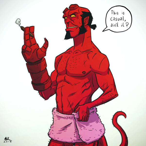Casual Friday: Hellboy by AndrewKwan