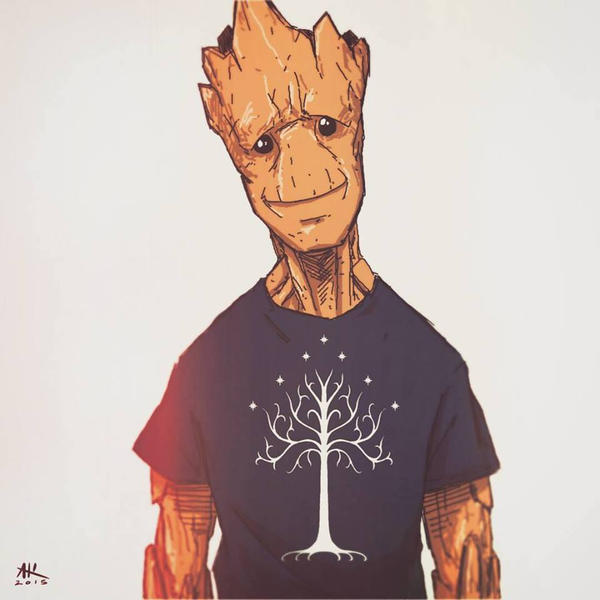 Casual Friday: Groot by AndrewKwan
