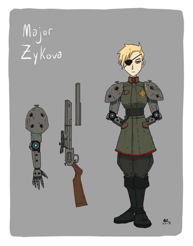 Character Design Major : Injection character design major zykova by andrewkwan on
