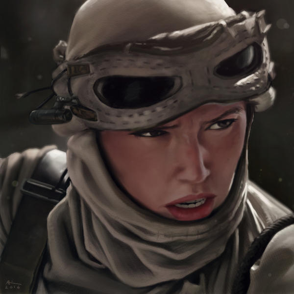Rey Painting Study by AndrewKwan