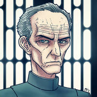 Governor Wilhuff Tarkin by AndrewKwan