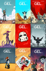 GEL  covers and full series Kickstarter! by AndrewKwan