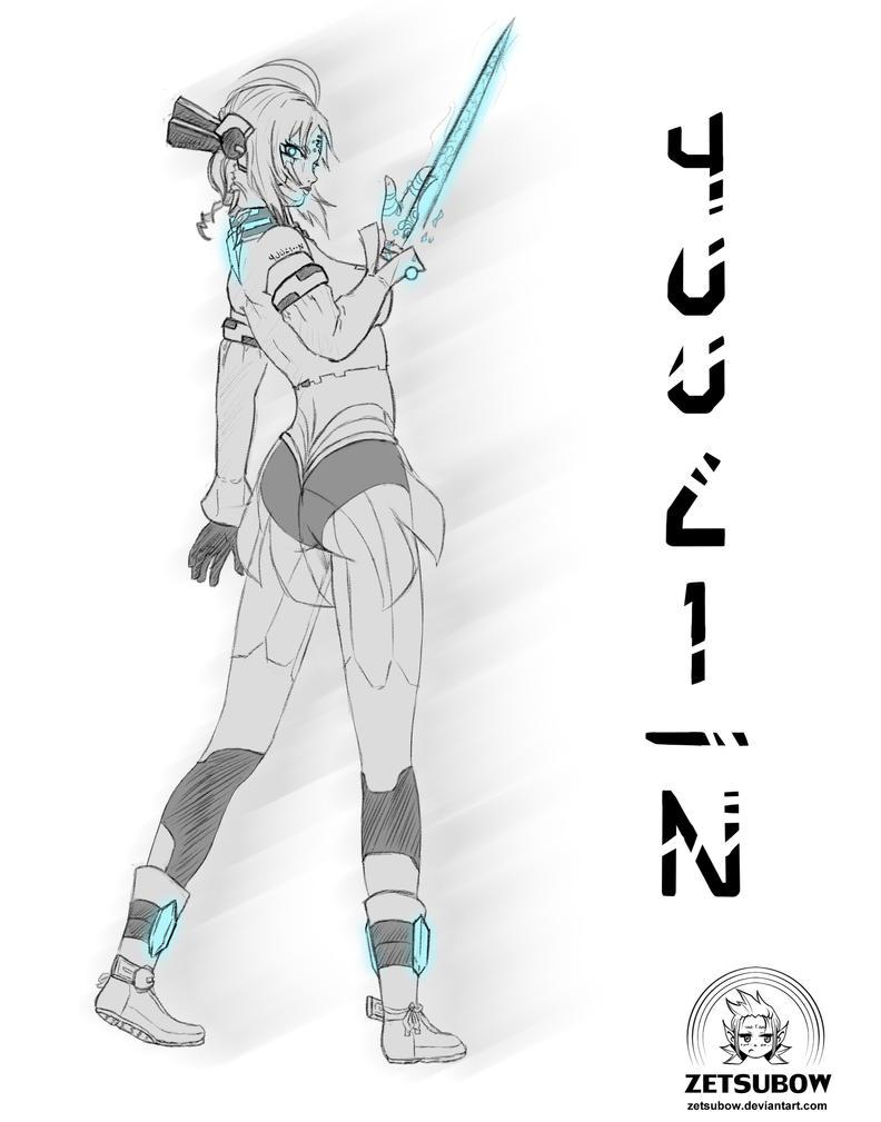 Yuuli-N Sketch OC by Zetsubow
