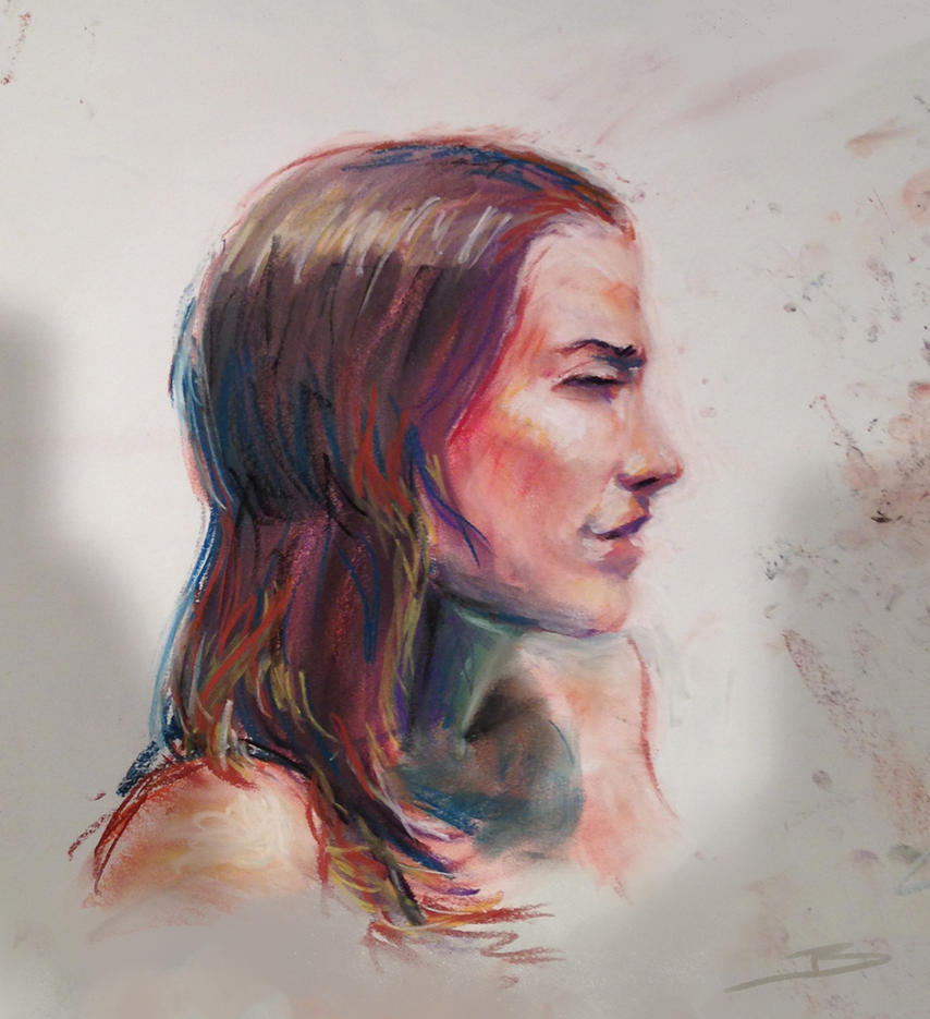 Life Drawing Portrait by JBellio