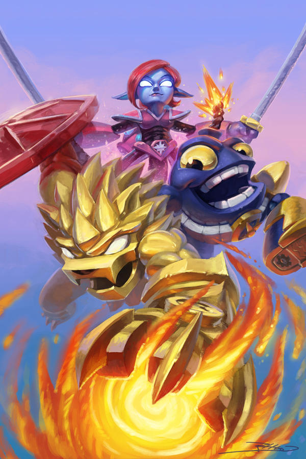 Skylanders Comic Cover Variant by JBellio