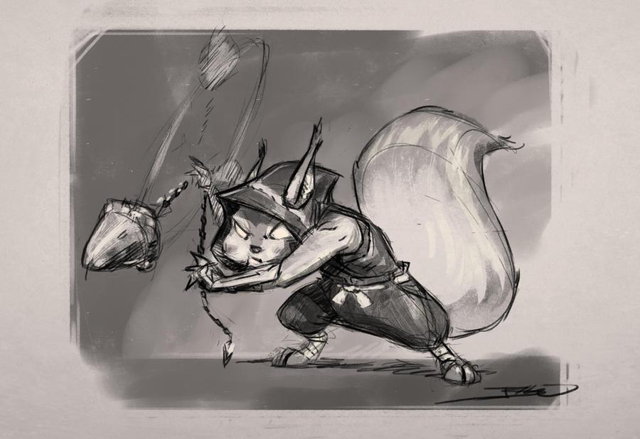 Ninja Squirrel by JBellio