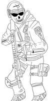 modern warfare2 ghost line art