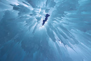 Winter Scenes - Ice Castle Inside by Qrinta