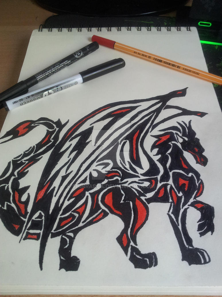 A tribal dragonnnnn by ShinraBCA