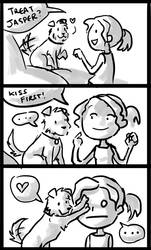 Dog Kisses by IsySheldon