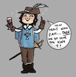 Musketeer Me by IsySheldon