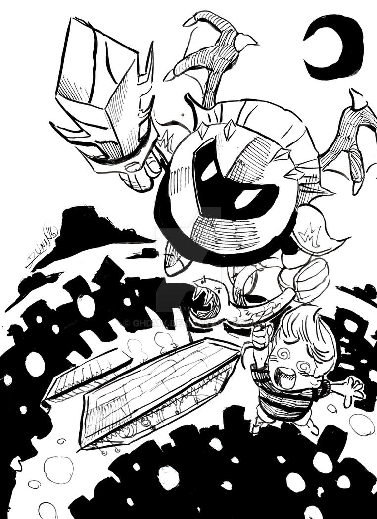 Smash Commission: Meta Knight and Lucas by ghdmv