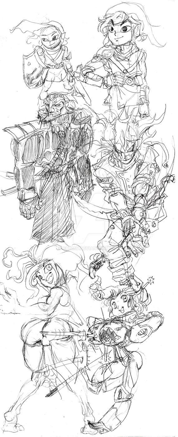 Sketch Dump 12 / 20 / 16  by ghdmv