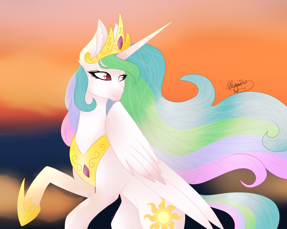 (Collab) Princess Celestia by SprinkleDashYT