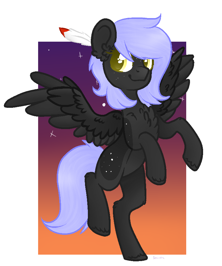 (FA) Cloudy Night + Speedpaint by SprinkleDashYT