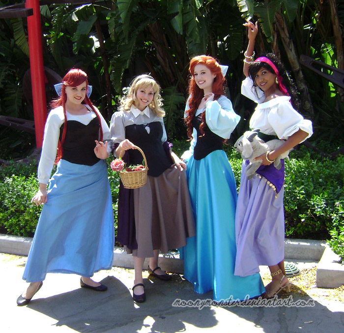 AX09-Disney Princesses by moonymonster