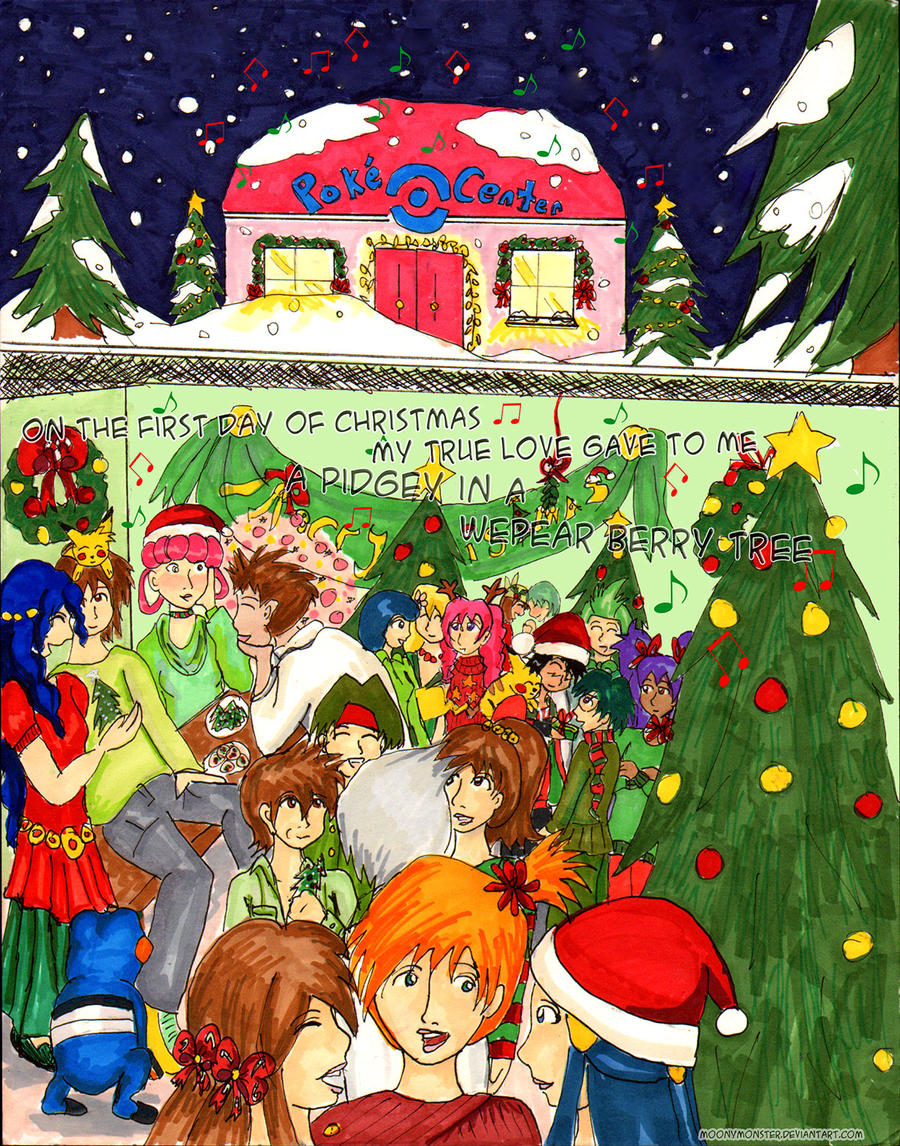 Under the Mistletoe: The Comic pg 1 by moonymonster