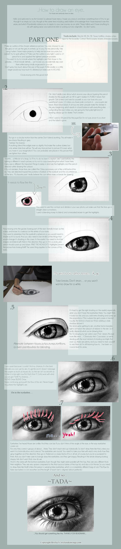 How to draw an Eye by reylia