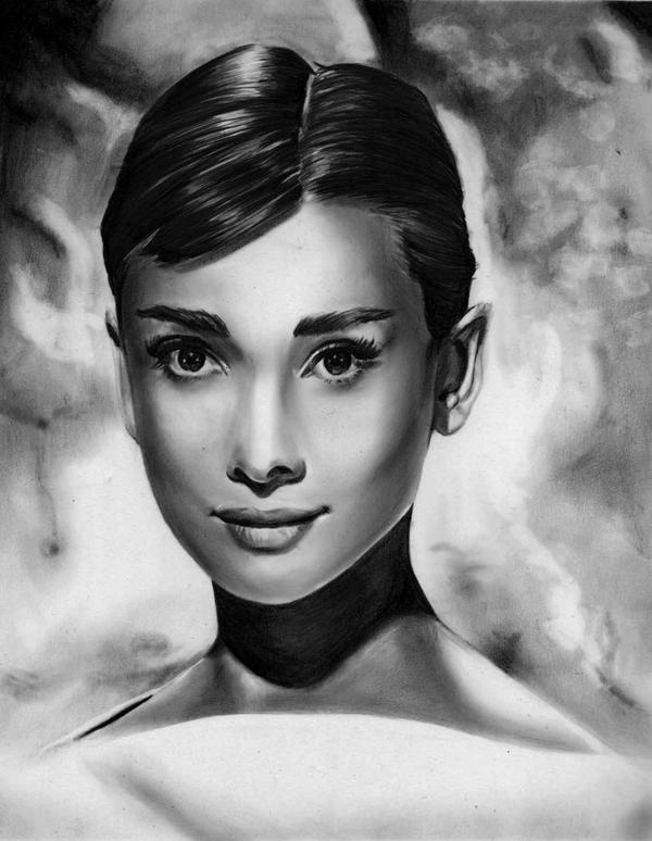 Audrey Hepburn by reylia