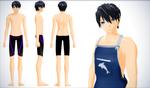 Haruka Nanase - FREE! Iwatobi Swim club by NipahMMD