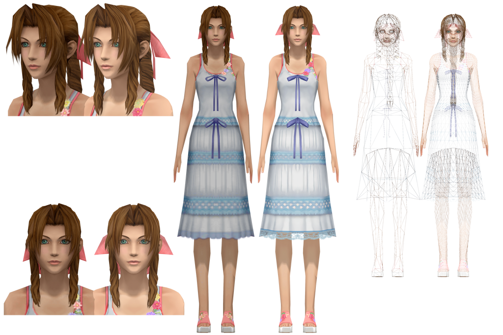 Pubg Dress Png Hd: HD Aerith (Crisis Core) By NipahMMD On DeviantArt