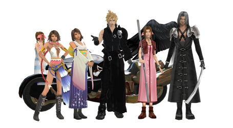 Final Fantasy HD MODEL PACK - UPDATE 1.1 by NipahMMD