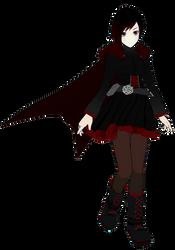 RWBY - Ruby Rose WIP (MMD) by NipahMMD