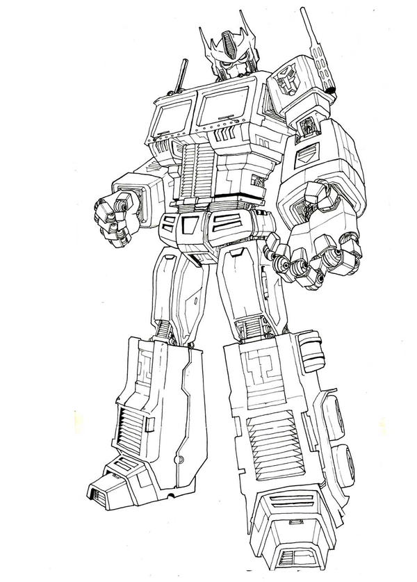 optimus prime coloring page - optimus prime ink by maxduro on deviantart
